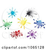 Clipart Colorful Splats 1 Royalty Free Vector Illustration by Vector Tradition SM