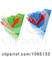 Clipart Bar Graph And Arrow 1 Royalty Free Vector Illustration