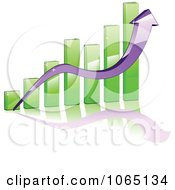 Clipart Bar Graph And Arrow 4 Royalty Free Vector Illustration by Vector Tradition SM