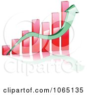 Clipart Bar Graph And Arrow 3 Royalty Free Vector Illustration
