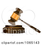 Clipart Banging Gavel 2 Royalty Free Vector Illustration