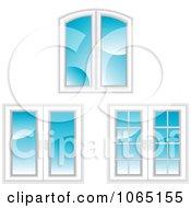 Clipart White Framed Windows Royalty Free Vector Illustration