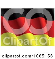 Clipart Waving German Flag Royalty Free Vector Illustration