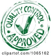 Green Quality Control Approved Stamp