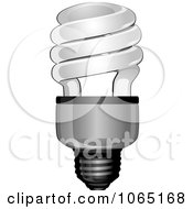 Clipart Spiral Light Bulb Royalty Free Vector Illustration