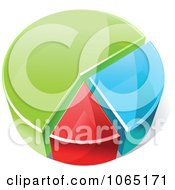 Clipart Colorful 3d Pie Chart 1 Royalty Free Vector Illustration