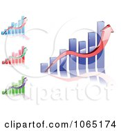 Clipart Bar Graphs 2 Royalty Free Vector Illustration