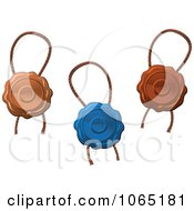 Clipart Wax Seals And Ropes 2 Royalty Free Vector Illustration