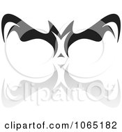 Clipart Menacing Flying Bat 2 Royalty Free Vector Illustration by Arena Creative