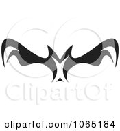 Clipart Menacing Flying Bat 4 Royalty Free Vector Illustration