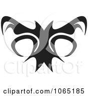 Clipart Menacing Flying Bat 3 Royalty Free Vector Illustration