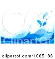 Clipart Blue Sea Waves Background 2 Royalty Free Vector Illustration by BNP Design Studio