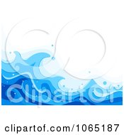 Clipart Blue Sea Waves Background 1 Royalty Free Vector Illustration