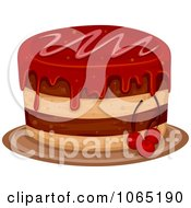 Clipart Cherry Cake Royalty Free Vector Illustration