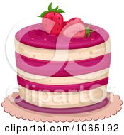 Clipart Strawberry Cake Royalty Free Vector Illustration