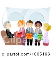 Clipart People At A Retirement Party Royalty Free Vector Illustration by BNP Design Studio