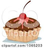 Clipart Chocolate Fondant Cupcake Royalty Free Vector Illustration