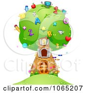 Clipart Number And Letter School Tree Royalty Free Vector Illustration