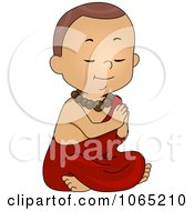 Clipart Monk Boy Praying Royalty Free Vector Illustration