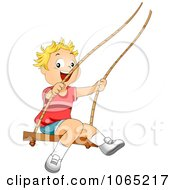 Clipart Boy Swinging Royalty Free Vector Illustration