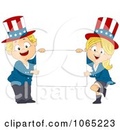 Clipart American Toddlers Holding A Blank Sign Royalty Free Vector Illustration