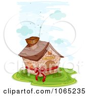 Clipart Bow Around A New House Royalty Free Vector Illustration