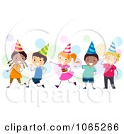 Clipart Birthday Kids Laughing Royalty Free Vector Illustration