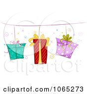 Clipart Border Of Hanging Gifts Royalty Free Vector Illustration