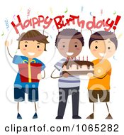 Clipart Happy Birthday Boys Royalty Free Vector Illustration by BNP Design Studio