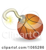 Clipart 3d Basketball Bomb Royalty Free Vector Illustration by AtStockIllustration
