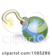 Clipart 3d Globe Bomb Royalty Free Vector Illustration