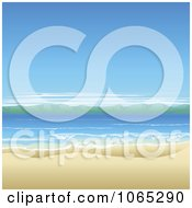 Clipart Ocean Landscape With White Sand Royalty Free Vector Illustration