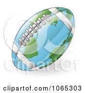 Clipart 3d American Football Map Globe - Royalty Free Vector Illustration by AtStockIllustration