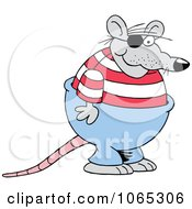 Clipart Rat Wearing An Eye Patch Royalty Free Vector Illustration
