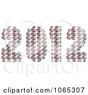 Clipart 3d 2012 Made Of British Flags Royalty Free CGI Illustration by MacX