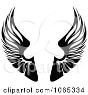 Clipart Black And White Wings 1 Royalty Free Vector Illustration by Vector Tradition SM #COLLC1065334-0169