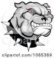 Clipart Grinning Bulldog Logo Royalty Free Vector Illustration by Vector Tradition SM