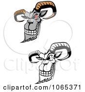 Clipart Evil Goats Royalty Free Vector Illustration by Vector Tradition SM #COLLC1065371-0169