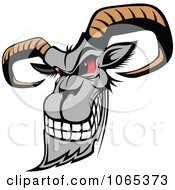 Clipart Evil Goat Royalty Free Vector Illustration by Vector Tradition SM