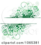 Clipart Green Daisy Background With Copyspace 1 Royalty Free Vector Illustration by Vector Tradition SM