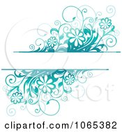 Clipart Turquoise Daisy Background With Copyspace Royalty Free Vector Illustration by Vector Tradition SM