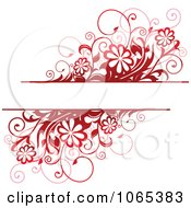 Clipart Red Daisy Background With Copyspace Royalty Free Vector Illustration
