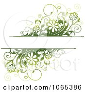 Clipart Green Daisy Background With Copyspace 2 Royalty Free Vector Illustration by Vector Tradition SM