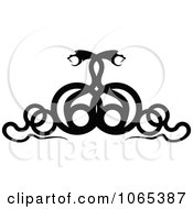 Clipart Black Snake Design Element 2 Royalty Free Vector Illustration by Vector Tradition SM