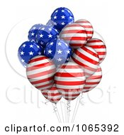 Clipart 3d Fourth Of July Helium Party Balloons 5 Royalty Free CGI Illustration