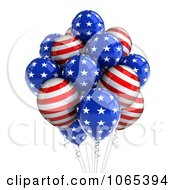 Clipart 3d Fourth Of July Helium Party Balloons 6 Royalty Free CGI Illustration