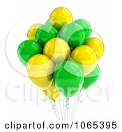 Clipart 3d Yellow And Green Helium Party Balloons Royalty Free CGI Illustration