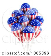 Clipart 3d Fourth Of July Helium Party Balloons 1 Royalty Free CGI Illustration