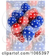 Clipart 3d Fourth Of July Helium Party Balloons 4 Royalty Free CGI Illustration