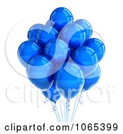 Clipart 3d Blue Helium Party Balloons Royalty Free CGI Illustration by stockillustrations